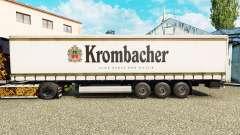 Skin Krombacher on a curtain semi-trailer for Euro Truck Simulator 2