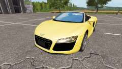 Audi R8 V10 Spyder v1.1 for Farming Simulator 2017
