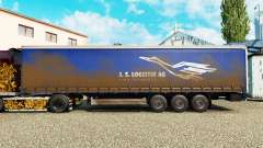 Skin J. S. Logistik AG on a curtain semi-trailer for Euro Truck Simulator 2