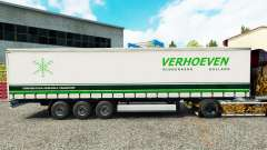 Skin Verhoeven on a curtain semi-trailer for Euro Truck Simulator 2