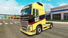 Caterpillar skin for Volvo truck for Euro Truck Simulator 2