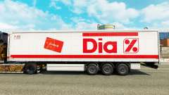 Skin Dia on a curtain semi-trailer for Euro Truck Simulator 2