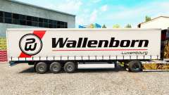 Wallenborn skin on the trailer curtain for Euro Truck Simulator 2