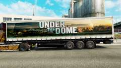 Skin of Under the Dome on the curtain semitrailer for Euro Truck Simulator 2