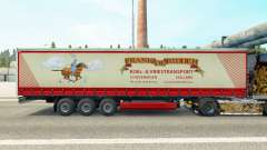 Skin Frank de Ridder on a curtain semi-trailer for Euro Truck Simulator 2