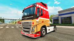 Ronny Ceusters skin for Volvo truck for Euro Truck Simulator 2