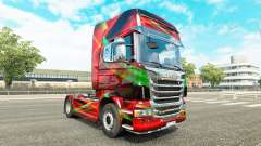 Red Effect skin for Scania truck for Euro Truck Simulator 2