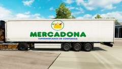 Skin Mercadona on a curtain semi-trailer for Euro Truck Simulator 2