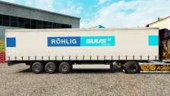 Skin ROHLIG SUUS Logistics on a curtain semi-trailer for Euro Truck Simulator 2