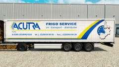 Skin Acutra on a curtain semi-trailer for Euro Truck Simulator 2