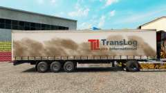 Skin Trans Log on a curtain semi-trailer for Euro Truck Simulator 2