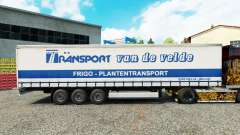 Skin Transport VdV on a curtain semi-trailer for Euro Truck Simulator 2