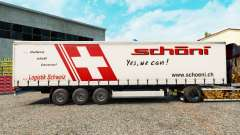 Skin Schoni on a curtain semi-trailer for Euro Truck Simulator 2