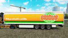 Skin Globus curtain semi-trailer for Euro Truck Simulator 2