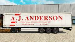 Skin A. J. Anderson on a curtain semi-trailer for Euro Truck Simulator 2