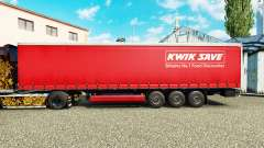 Skin Kwik Save on curtain semi-trailer for Euro Truck Simulator 2