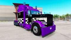 Скин Purple and Black checker на Peterbilt 389 for American Truck Simulator