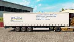 Skin Philson on a curtain semi-trailer for Euro Truck Simulator 2