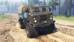 GAZ-66 Mammoth Kuzma for Spin Tires