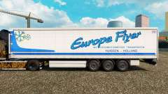 Skin Europe Flyer on a curtain semi-trailer for Euro Truck Simulator 2