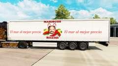 Skin Mariscos Recio on a curtain semi-trailer for Euro Truck Simulator 2