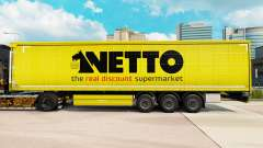 Skin Netto on a curtain semi-trailer for Euro Truck Simulator 2