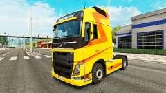 Yellow skin for Volvo truck for Euro Truck Simulator 2