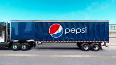 Skin Pepsi on a curtain semi-trailer for American Truck Simulator
