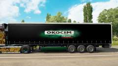 Skin Okocim on a curtain semi-trailer for Euro Truck Simulator 2