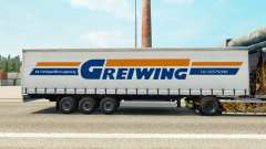 Skin Greiwing on a curtain semi-trailer for Euro Truck Simulator 2