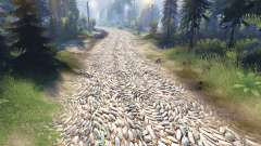 The texture of the stones for Spin Tires