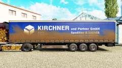 Skin Kirchner on a curtain semi-trailer for Euro Truck Simulator 2