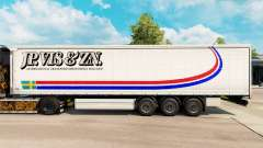 Skin Jp. Vis & Zn. on a curtain semi-trailer for Euro Truck Simulator 2