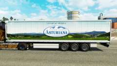 Skin Asturiana on a curtain semi-trailer for Euro Truck Simulator 2