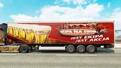 Skin Warka on a curtain semi-trailer for Euro Truck Simulator 2