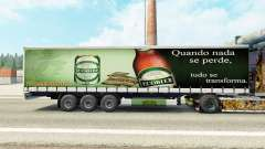 Skin Ecobier on a curtain semi-trailer for Euro Truck Simulator 2