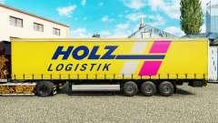 Skin Holz Logistik on a curtain semi-trailer for Euro Truck Simulator 2