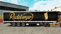 Skin Radeberger Pilsner on a curtain semi-trailer for Euro Truck Simulator 2