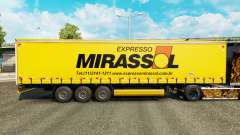 Skin Mirassol Logistic on a curtain semi-trailer for Euro Truck Simulator 2