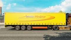 Skin DellaVolpe on a curtain semi-trailer for Euro Truck Simulator 2