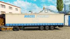 The skin on Nagel Polska curtain semi-trailer for Euro Truck Simulator 2