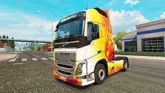 Flame skin for Volvo truck for Euro Truck Simulator 2