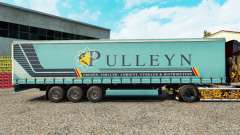 Skin Pulleyn on a curtain semi-trailer for Euro Truck Simulator 2