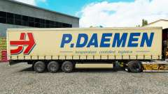 Skin P. Daemen on a curtain semi-trailer for Euro Truck Simulator 2