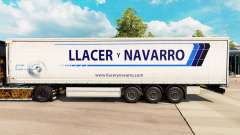Skin Llacer y Navarro on a curtain semi-trailer for Euro Truck Simulator 2