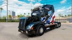 American Flag skin for Volvo truck VNL 670 for American Truck Simulator