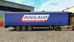 Skin Roulaud Transports on a curtain semi-trailer for Euro Truck Simulator 2