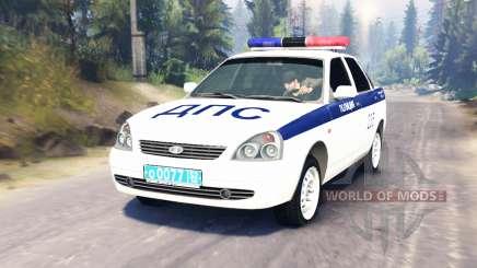 LADA Priora Police DPS (VAZ-2170) for Spin Tires