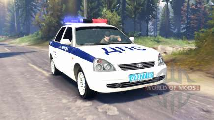 LADA Priora Police DPS (VAZ-2170) v2.0 for Spin Tires