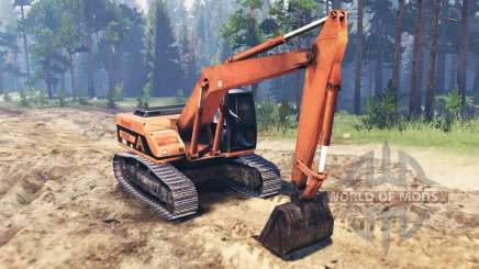Excavator for Spin Tires